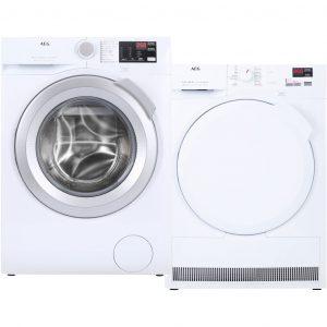 AEG L6FBI86S + AEG T7DB84PK wasmachine