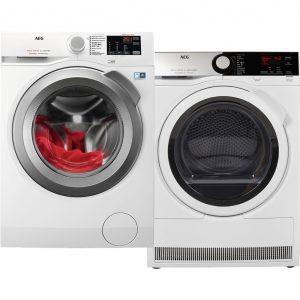 AEG L6FBI86S + AEG T8DE84EW wasmachine