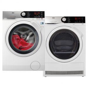 AEG L7FE94EW + AEG T8DE84EW wasmachine
