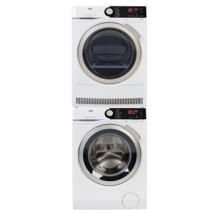 AEG L8FB86ES + AEG T8DB86ES + tussenstuk wasmachine