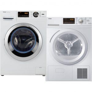 Haier HW80-BP14636 + Haier HD80-B636W wasmachine