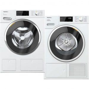Miele WWG 760 WPS TwinDos AllWater + Miele TSF 643 WP EcoSpeed wasmachine