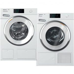 Miele WWR 760 WPS TwinDos + Miele TWR 860 WP wasmachine