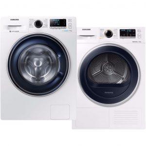 Samsung WW70J5426FW + Samsung DV70M5020QW wasmachine