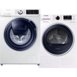 Samsung WW80M642OPW QuickDrive + Samsung DV80M5210QW wasmachine