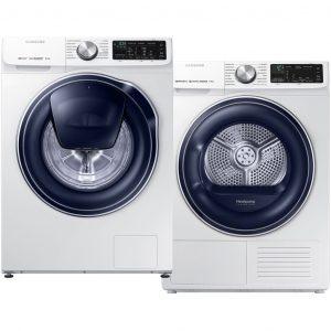 Samsung WW80M642OPW QuickDrive + Samsung DV80N62532W/EN wasmachine