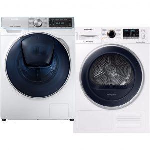 Samsung WW8BM76NN2A QuickDrive + Samsung DV80M5210QW wasmachine