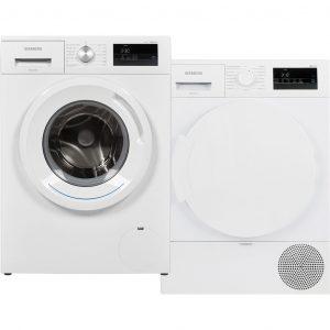 Siemens WM14N030NL + Siemens WT43RV00NL wasmachine