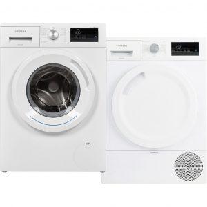 Siemens WM14N030NL + Siemens WT43RV30NL wasmachine