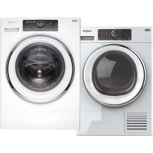 Whirlpool FSCR 80621 + Whirlpool ST U 83X EU wasmachine