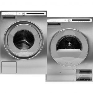ASKO W4086C.S + ASKO T408HD.S wasmachine