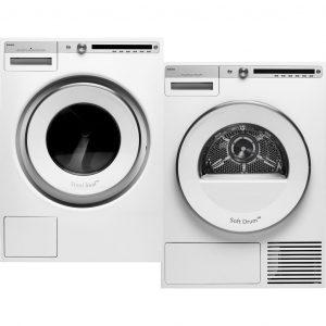 ASKO W4096R.W + ASKO T409HS.W wasmachine