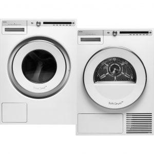 ASKO W4114CW + ASKO T411HDW wasmachine